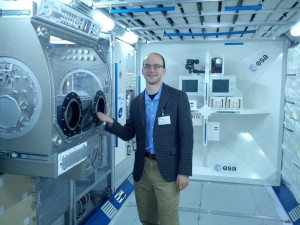 Me in the ESA Columbus Module Mockup